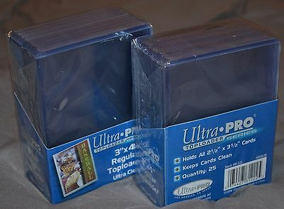 "50 Top Loaders Ultra Pro Series NEW 3"" X 4"" Regular Toploaders Ultra Clear Cards"