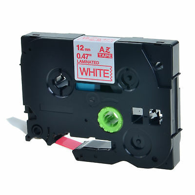 20PK TZ 232 TZe-232 Red on White Label Tape For Brother P-Touch PT-2730 12mmx8m