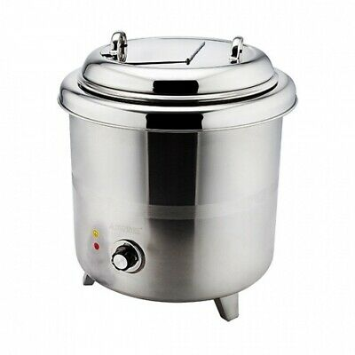 Soup Kettle 10L Warmer Stainless Steel Sunnex Commercial Sauce Curry Mulled Wine
