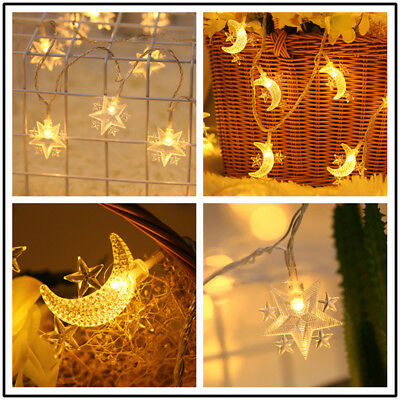 US Fairy Battery Operated String Lights Lantern Wedding Party Xmas Outdoor Decor