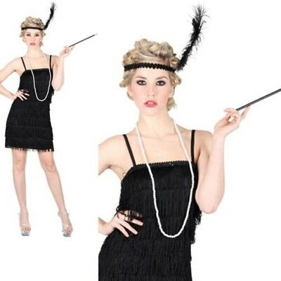 Nuovo Donna Adulta Charleston con Frange Jazz Anni  20 Anni  30 Costume  Chicago ea07433d19a