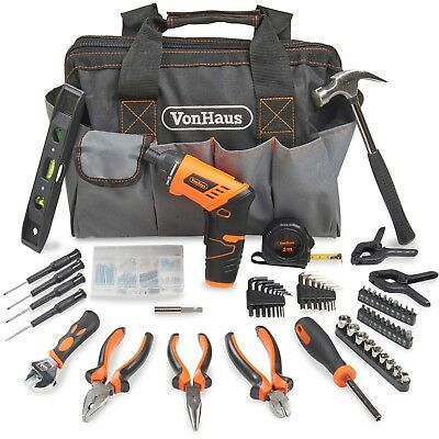 VonHaus 94pc Household Hand Tool Set + Screwdriver Combo Kit