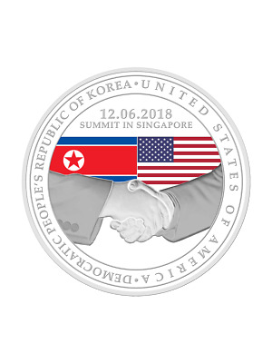 United States - Korea Summit 2018 1 oz 999 Fine Silver Proof Medallion