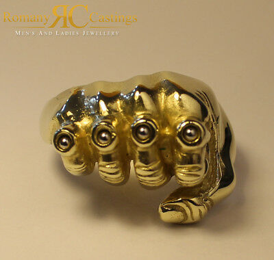 Fist & Knuckle Duster Ball Bearing Ring Jewellers Bronze Dipped in 9ct Gold
