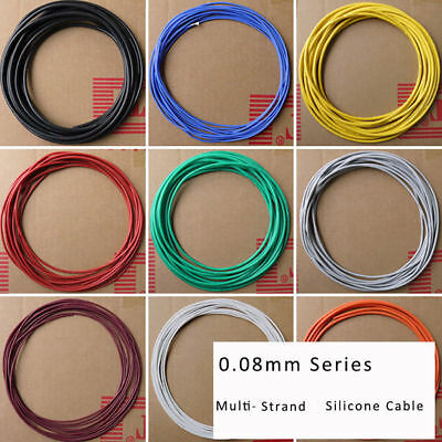 2/4/6/7/11/15/17-30AWG 0.08mm UL Strand Silicone Soft Cable 600V 200℃ RC Wire