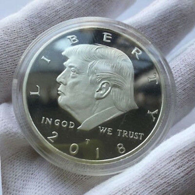 2018 President Donald Trump Silver Plated EAGLE Collectors Commemorative Coin
