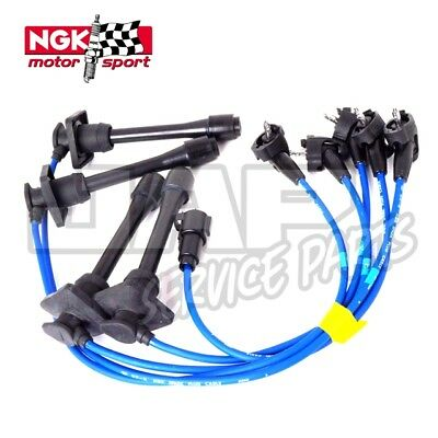 NGK BLUE IGNITION LEADS | Toyota Starlet Glanza V GT Turbo EP82 EP91 4E-FTE