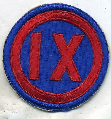 WWII US Army IX 9th Corps Patch Original