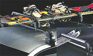 Universal Ski-Snowboard Roof Rack Carriers With Lock 'fapa' 3 Ski Or 2 Snowboard