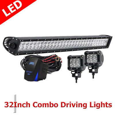 32 Inch 180W LED Work Light Bar Flood Spot Flood Combo Affroad For JEEP Driving