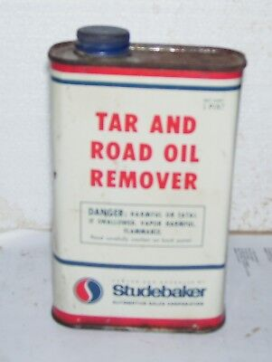 Studebaker pint  can Tar and Road Oil remover- very nice
