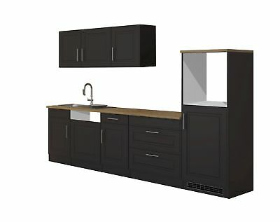 k che k chenzeile k chenblock einbauk che komplettk che wei grau 320cm respekta eur. Black Bedroom Furniture Sets. Home Design Ideas