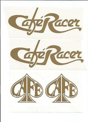 CAFE RACER stickers decals CHOICE OF COLOURS (4) NEW!!