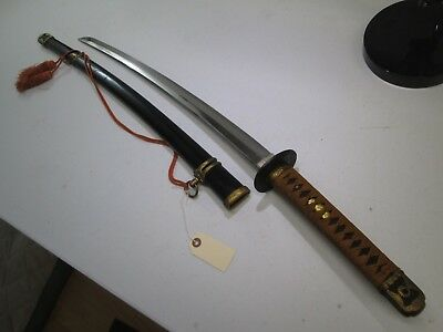 Late Ww2 Japanese Navy Officers Sword With Scabbard Ancor Mark Minty #c43