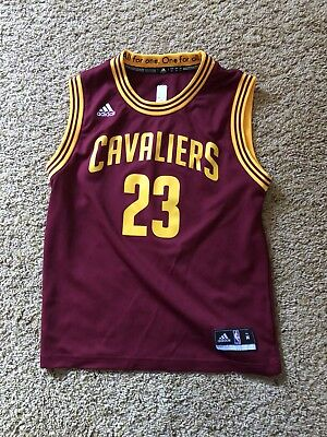 timeless design d11fb 8a7a8 ADIDAS LEBRON JAMES Cavaliers Jersey Youth Medium (Color - Wine)