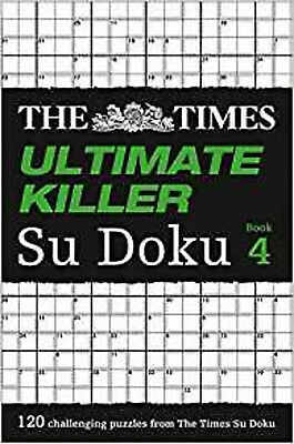 The Times Ultimate Killer Su Doku Book 4, New, The Times Mind Games Book