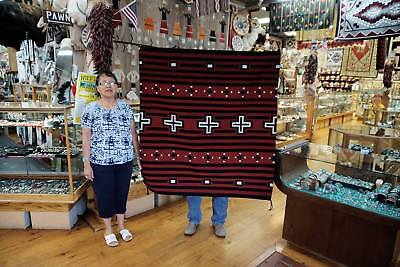 "Bernice Largo, Cheif Rug, Intertribal Ceremonial 1st Place, Navajo, 51"" x 48"""