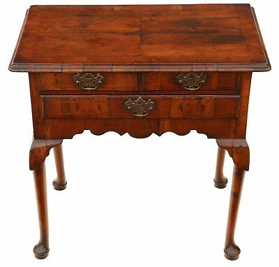 Antique Georgian 18th C and later walnut lowboy writing side table