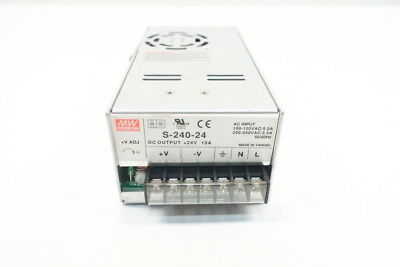 Mean Well S-240-24 Power Supply 100-120/200-240v-ac 10a Amp 24v-dc