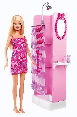 Barbie Glam Shower Playset - Includes Doll, Shower & Bathroom Accessories