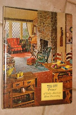 """1968 """"Tell City Primer of Early American Home Decorating"""" HB Book/Cutouts"""