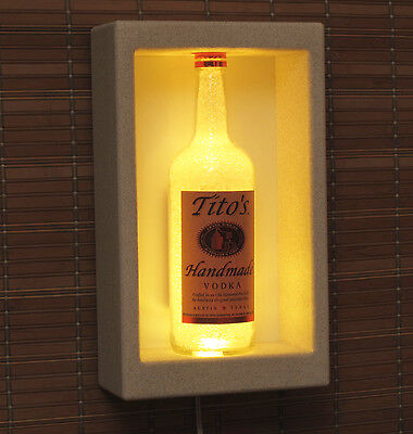 Tito's Vodka LED Shadow Box Sconce Color Changing Bottle Lamp Bar Light Texas