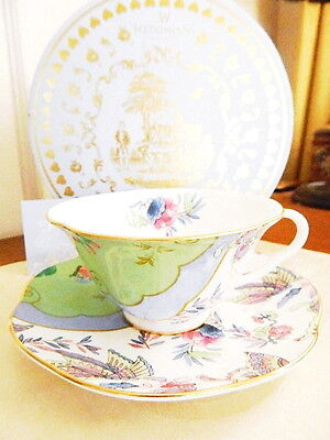 Wedgwood China Tea Story BUTTERFLY BLOOM / POSY Cup & Saucer Set - NEW / BOX!