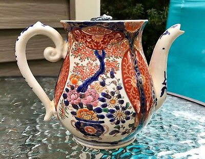 Antique Japanese Imari Teapot Circa 1890, Beautiful Colors