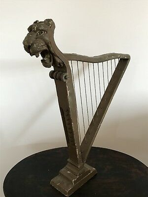 Antique Harp Instrument Prop - Hand carved
