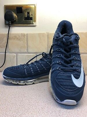 brand new fffb0 6ea55 Men s Boys Nike Air Max 2016 Navy White Trainers Size 7