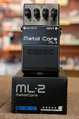 Boss ML-2 Metal Core Distortion Guitar Effect Pedal- NEW Free US Shipping