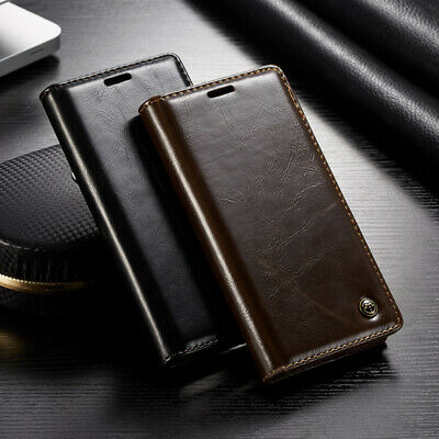 For Huawei Mate 20 P20 Pro Genuine CaseMe Leather Flip Wallet Card Case Cover