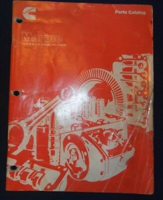 CUMMINS VT-1710-M VTA-1710-M1 Vta-1710-M2 Marine Engine Parts Manual Book