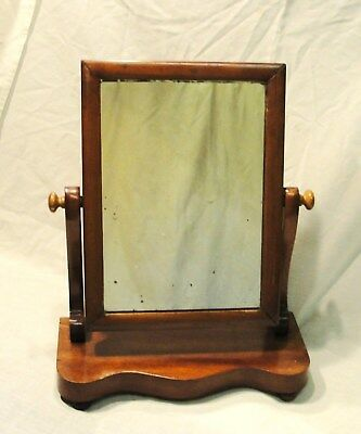 "1890s VICTORIAN ""TABLE TOP"" SWING MIRROR with a MAHOGANY FRAME in vgc"