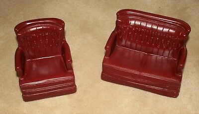 Vntg Sindy Doll Furniture Couch+Chair Set Louis Marx 1978 Toy BIN/Offer REDUCED!