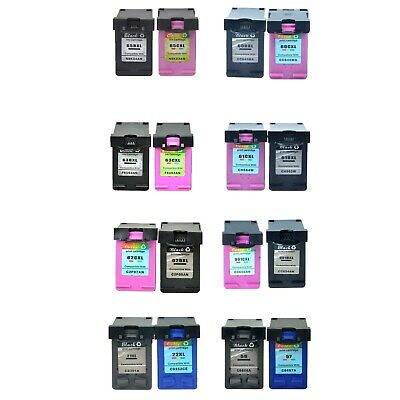Ink Cartridge Color Black For HP 65XL 63XL 62XL 61XL 60XL 901XL 21XL 22XL 56 57