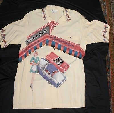 1950's Theme Men's SS Shirt Drive-In Car Hops-Shakes-Burgers-Check It Out