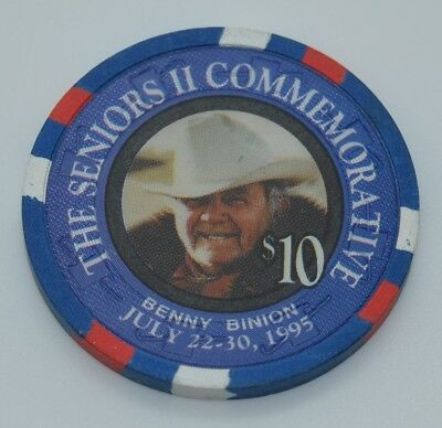 Oceanside Card Room $10 Casino Chip Benny Binion Oceanside CA H&C Paul-son Mold