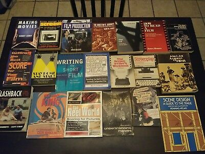 HUGE Lot Of 20 Filmmaking Books 16mm Editing Cinematography Screenwriting Lot 1