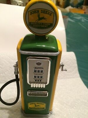 1950's Style Licensed John Deere Limited Edition Gas Pump by Gearbox Coin Bank