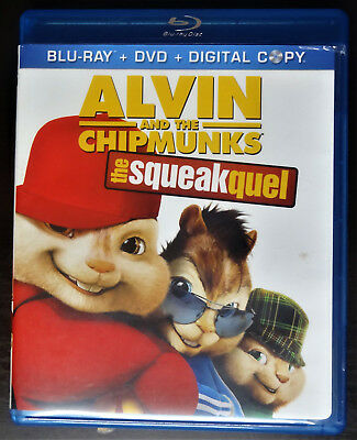 Alvin and the Chipmunks: The Squeakquel - Blu-ray/DVD, 2010, 3-Disc Set