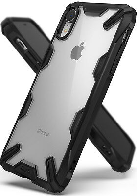 """Ringke Apple iPhone XR 6.1"""" Case, [Fusion-X] Clear Bumper Drop Protection Cover"""
