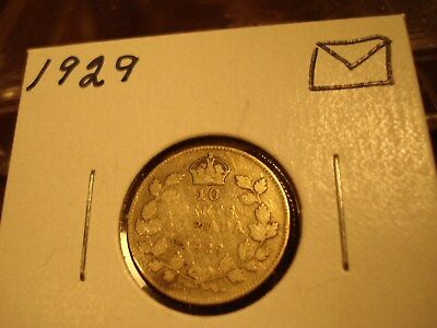 1929 - Canada - 10 cent - Canadian Silver dime