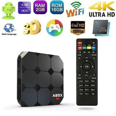 A95X R2 Android 7.1 Smart TV BOX 2G/16G Quad Core S905W 4K 3D WiFi 2.4G Keyboard