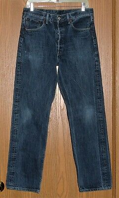 MENS VINTAGE LEVI'S 501XX RED TAB BUTTON FLY FADED JEANS SIZE 32x32 !! AWESOME !