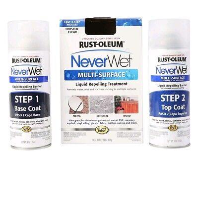 Never Wet Rust-Oleum 18 oz. NeverWet Multi-Purpose Spray Kit  FROSTED CLEAR,