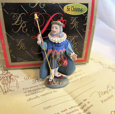 Duncan Royale SIR CHRISTMAS History of Santa Claus Pewter Miniature w/Box & COA