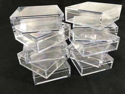AMAC 2 By 2 Inch Square Clear Acrylic Storage Boxes Mod - 12 QTY