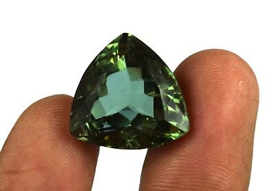 Alexandrite Loose Gemstone Color Changing 23.60 Ct Trillion Cut Certified B4200