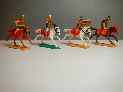 Timpo Toys 4x Mounted Romans from the 1960s/70s